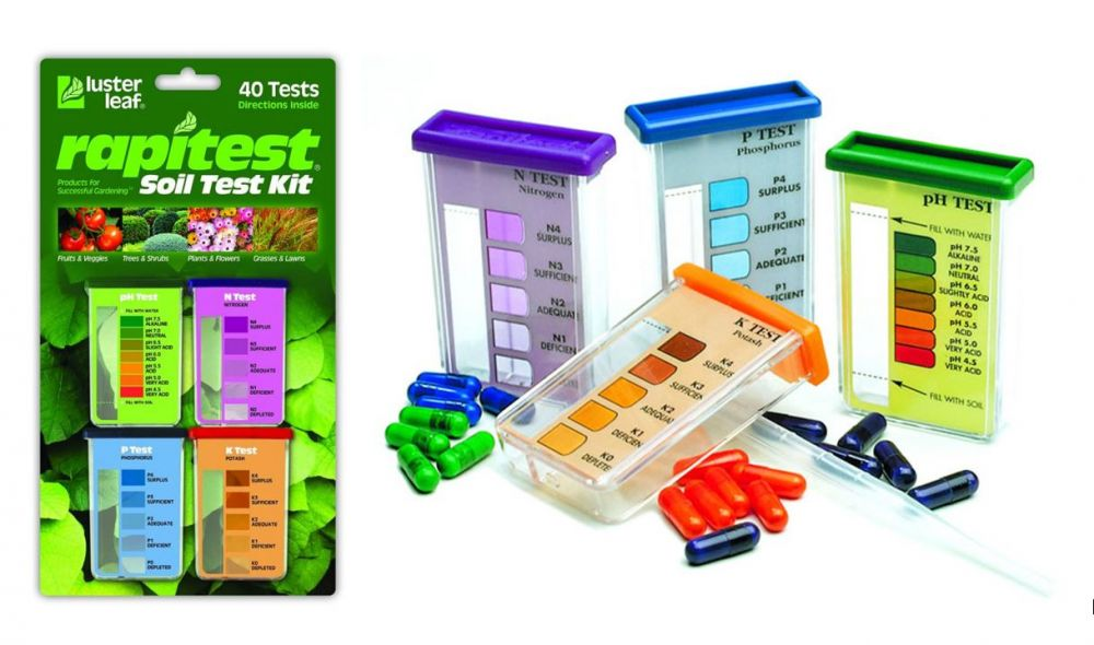 RapiTest : Kertészeti Kálium, Nitrogén, Foszfor és pH teszt