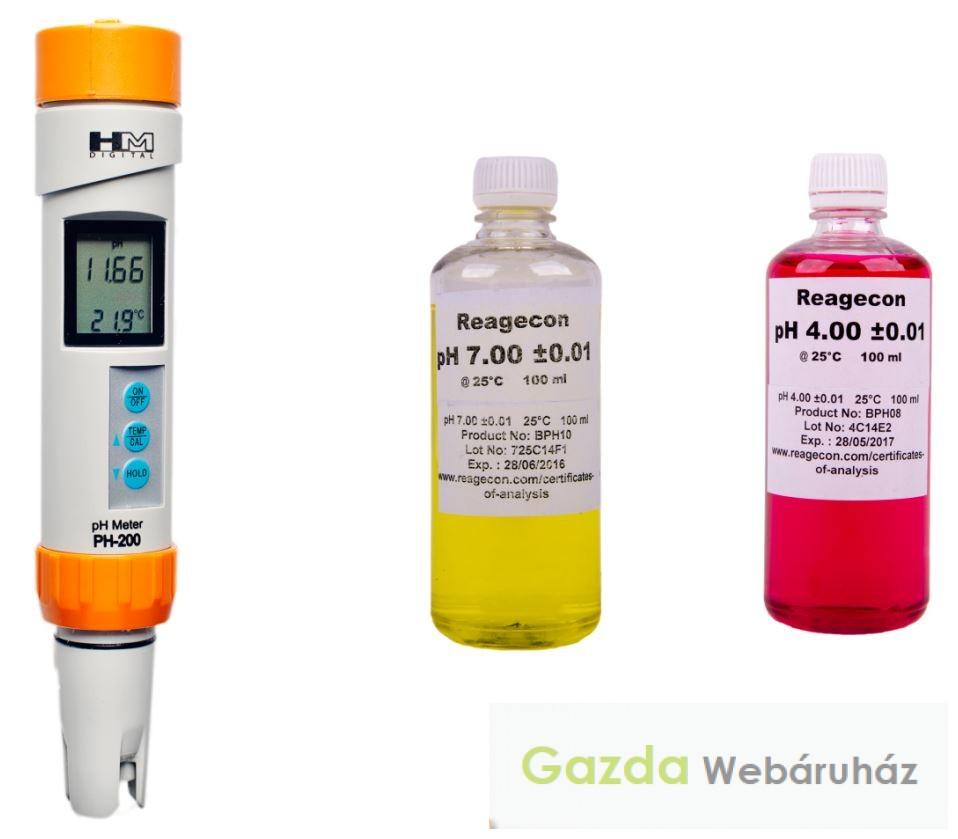 Professzionális cefre pH mérő PH200 - 5 év garanciával!