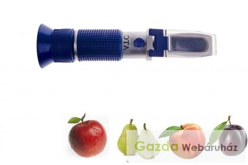Cukortartalom mérő refraktométer RHW-25BATC kalibráló oldattokkal