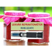LEKVÁR  refraktométer RHB-62ATC  + kalibráló folyadék