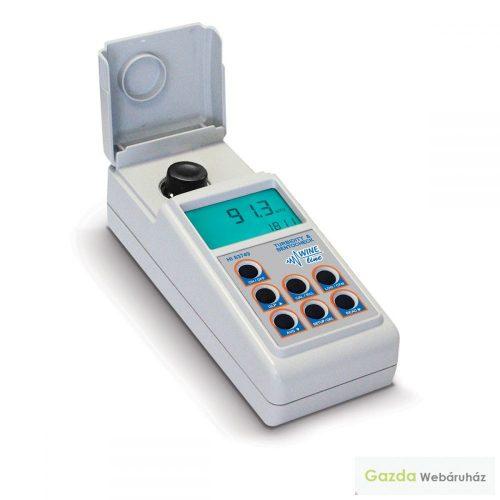 HI 83749 Fotométer a bor zavarosságának és bentonittartalmának méréséhez