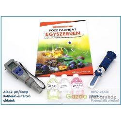 LABORNITE Cefre készlet (pH+cukor+kalibráló, tároló oldatok+könyv)
