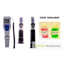 Cefre miniLABOR : cukor+pH+alkohol mérők