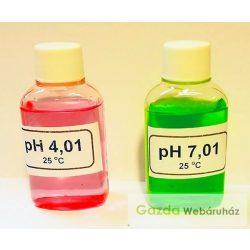pH mérő kalibráló készlet 3 x 100 ml