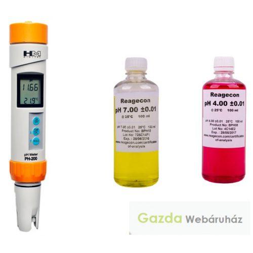 Professzionális cefre pH mérő PH200 - 3 év garanciával!