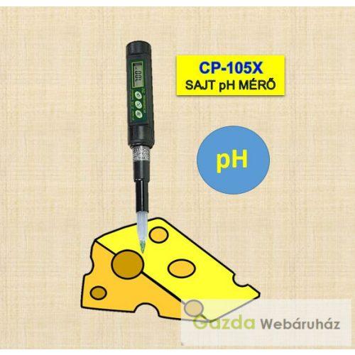 CP-105X hordozható pH mérő szúró elektródával sajt, hús mérésére