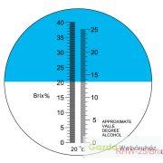Cukortartalom mérő refraktométer RHW-25BATC